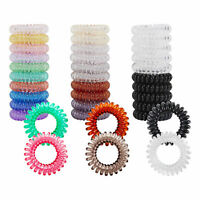 Wholesale 3x Spiral Girls Hair Bobble Band Rope Elastic Rubber Tie Coil Ponytail