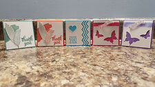 5 Handmade Stampin' Up! Mini 3x3 Thank You Cards