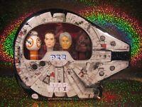 PEZ Star Wars Millennium Falcon Gift Tin Han Solo Chewbacca Rey BB-8 Disney NEW