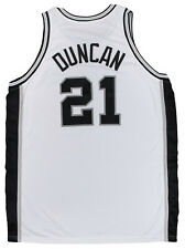 Tim Duncan 2001-02 Game Worn San Antonio Spurs Home Jersey 100% LOA 9/11 Patch