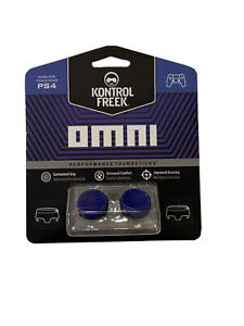 KontrolFreek Omni Thumbsticks for PS4 PS5 New Blue FPS Freek PlayStation Low
