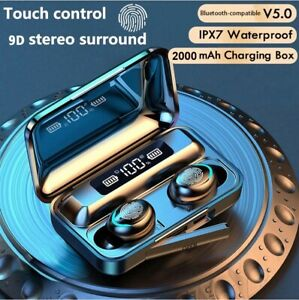 Earphones Charging Box Wireless Headphone Bluetooth-compatible 9D Stereo Sports