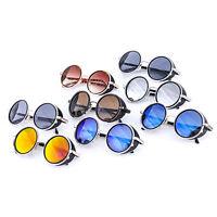 Cyber Goggles Steampunk Sunglasses Vintage Retro Mirror lens Round Glasses