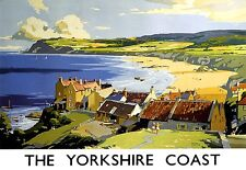 The Yorkshire Coast Robin Hoods Bay  Railway Poster