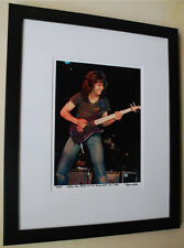 Eddie Van Halen RARE Kramer Guitar fine art photo signed # 11/100 1982 ROXY