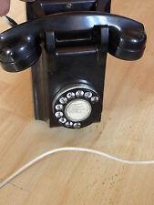 Vintage Art Deco Bakelite Wall Phone ericsson retro TELEPHONE DIAL ANTIQUE RETRO