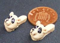 1:12 Echelle Résine Pantoufles Avec Chiens Visage Maison De Poupées Miniature