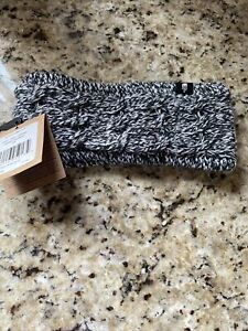 The North Face Womens Fuzzy Cable Earband Ear Gear Eargear OS Black White NWT