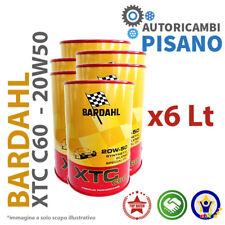 6 LITRI DI OLIO MOTORE ORIGINALE BARDAHL XTC 20W50 C60 313040