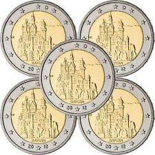 Pièces euro d'Allemagne pour 2 euro année 2012