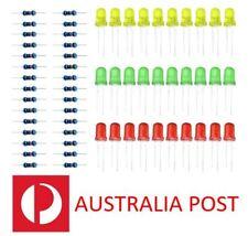 30 pcs LED light 5MM 100k resistor for arduino green red yellow kit raspberry pi