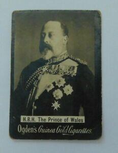 Ogden's Guinea Gold cigarette card c 1900 H.R H. Prince of Wales - Royalty photo