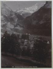 Suisse, Grindelwald, Hotel Baren & unterer Gletscher  Vintage print. Photoméca