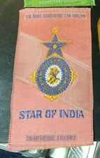 New listing Star of India Fraternal Tobacco Silk Egyptienne Luxury 1910's
