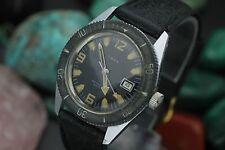 Vintage TIMEX Diver Waterproof 200 Feet Ghost Bezel Hand Wind Sport Watch