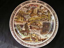 "Vintage Vernon Kilns Endless Caverns, Virginia Souvenir State Plate, 10"" Colored"
