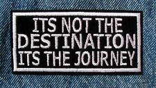 ITS THE JOURNEY Biker Motorcycle Patch by DIXIEFARMER
