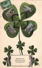 MANTES porte-bonheur trèfle à 4 feuilles