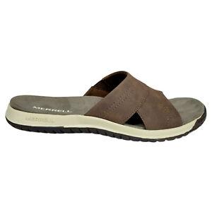 Merrell Mens 10 Veron Slide Slip-On Sandals Brown J000831
