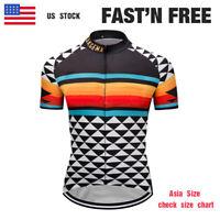 New Team Cycling Men's Bike Short Jersey Long Zipper Tops Bicycle Cycle Pockets