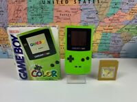 SHIPS SAME DAY Nintendo Game Boy Color Kiwi (Lime Green) Handheld System W/ Box