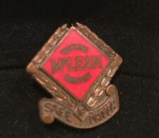 """Vtg '70's McLean Trucking Co Screw Back Pin Safe Driver 3/4"""" Bronzed Metal Yr19"""