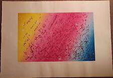 Jacques MONORY - Sérigraphie signée numérotée Fouillis mathématique **
