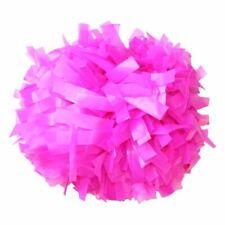 """Danzcue 1 Pair 6"""" Plastic Cheerleading Pom Poms with Baton Handle"""