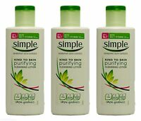 3 x Simple Kind To Skin Purifying Cleansing Lotion 200ml