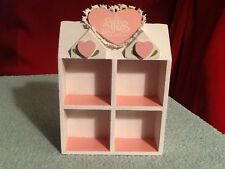 Precious Moments Pink Floral Shadow Box