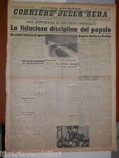 1 agosto 1943 Guerra in Sicilia Governo Badoglio De Sica Cronaca di Milano di e