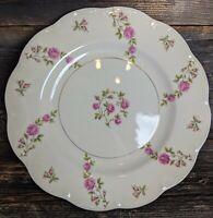 VTG Theodore Haviland Delaware New York Dinner Plate Pink Roses Gold Trim EUC