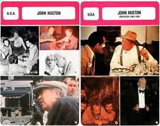 FICHE CINEMA x2 : JOHN HUSTON -  USA (Biographie/Filmographie)