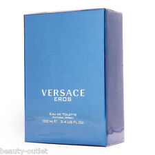 VERSACE EROS Men Homme EDT 100ml 3.4oz Eau de Toilette NEW IN BOX 100% Original