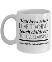 Best Teacher Coffee Mug Appreciation Thank You Gift Math Science Kindergarten