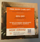 3 Bath & Body Works Coupons 20% Off, Body Care Gift, $6 Wallflowers Exp 10/31