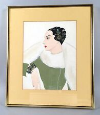 Larry Austin - Miriam Haskell Jewelry Illustration Original Watercolor Painting