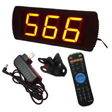 """4/"""" High Character LED Digital Counter with 3 Wired Buttons 12VDC US Plug"""