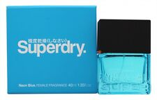SUPERDRY NEON BLUE EAU DE TOILETTE 40ML SPRAY - WOMEN'S FOR HER. NEW