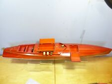 FINESCALE  DISPLAY MODEL OF A VINTAGE POWER BOAT (ex SHOP DISPLAY )