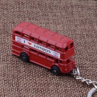 1x Exquisite I Love London Red Bus Key Chain Key Ring Key Holder Souvenir