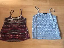 New Look Floral Pasiley & Aztec Pattern V Neck Cami Top Sz 12