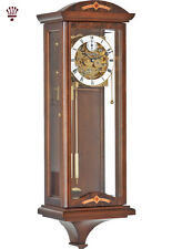 BilliB Redhill Mechanical Wall Clock, Burl Accents with Triple Chime in Walnut