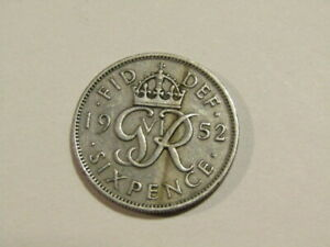 Great Britain 1952 6 Pence Coin