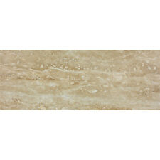 "Walnut Travertine Vein Cut Natural Stone Wall Floor Tile 3x8 in (2.95"" x 7.87"")"