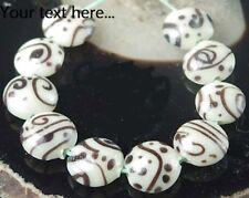 15mm Lampwork Handmade Glass Creamy Chocalata Lentil Beads (10)