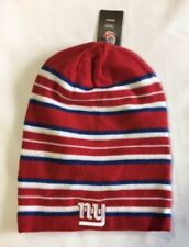New York Giants Knit Beanie Winter Hat Toque Skull Cap NEW Red Tall Reversible