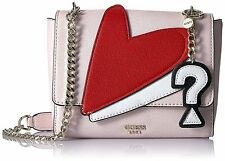 NWT Guess Pin up Crossbody purse Handbag White Pink heart embroyder