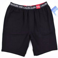 CALVIN KLEIN Sleepwear - Men's Pyjama/Loungewear Shorts, Soft Cotton, Black