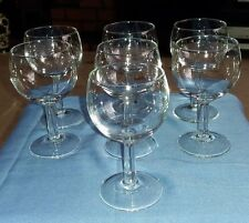 Set of 7 Clear Glass Stemmed Luminarc Wine/Juice/Water Glasses VGC 12 cm Tall